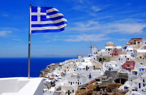 Greece-Santorini-Flag